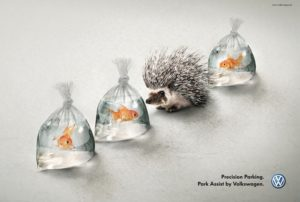 creative print ad by Volkswagen
