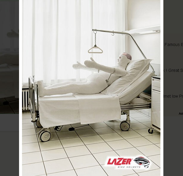 Lazer Bicycle Helmets: Hospital Bed